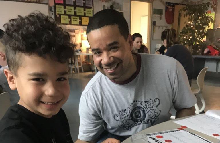 Grade 4 Students Host Grade 1 Family Math Night