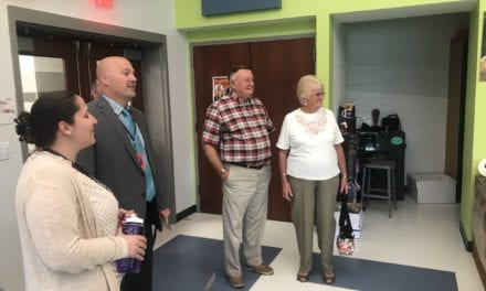 Mr. and Mrs. Horan Visit Schodack CSD