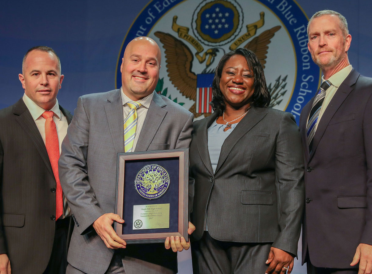 Administrators with National Blue Ribbon Award