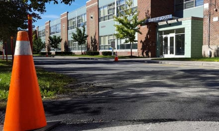 Speed Bumps Installed in Drop-Off Loop