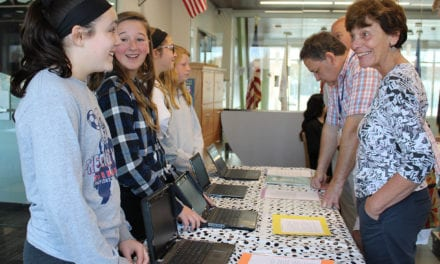 Gr. 7 Presents Wall of Honor (Photos)
