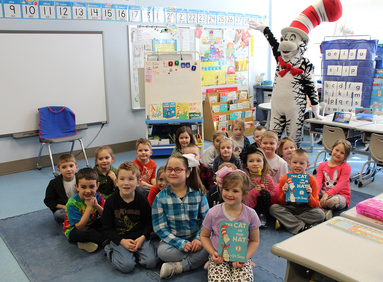 Students with Cat in the Hat