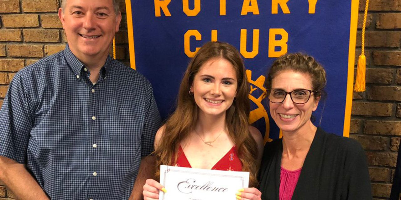 Senior Honored by Rotary Club