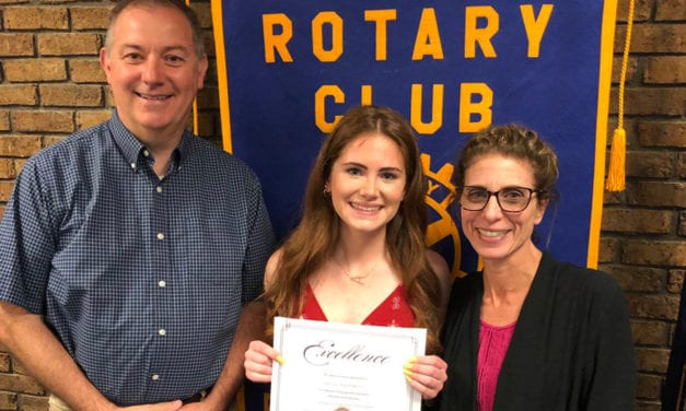 Senior Honored by Rotary Club