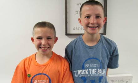 Students Shave Heads for Cancer Research