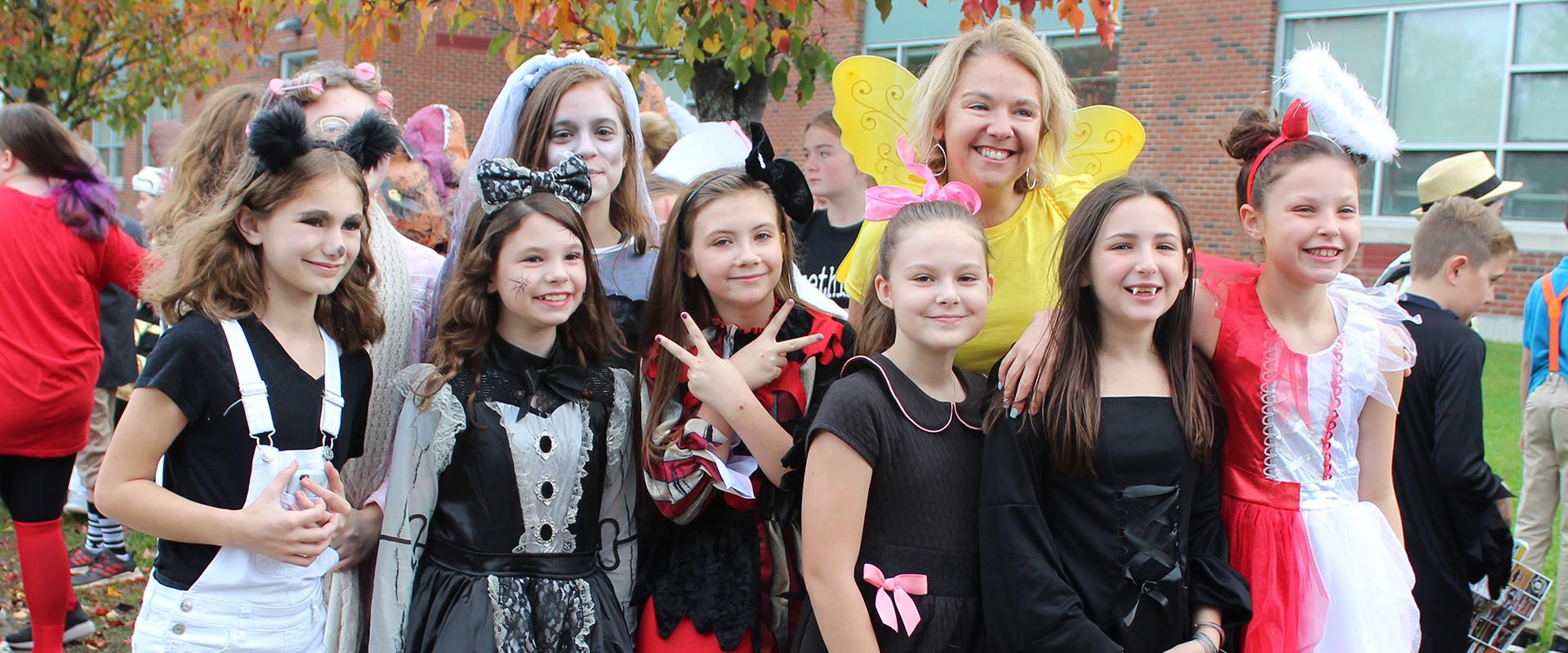 Students at Halloween Parade