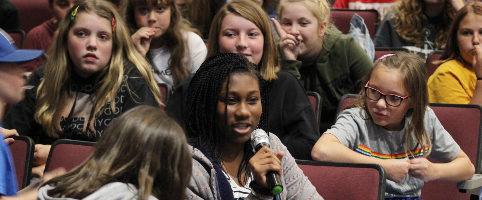 Students at Mental Health Assembly