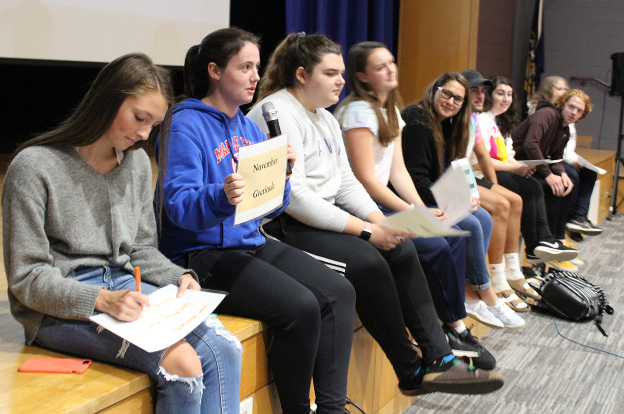 Students at Mental Health Assembly