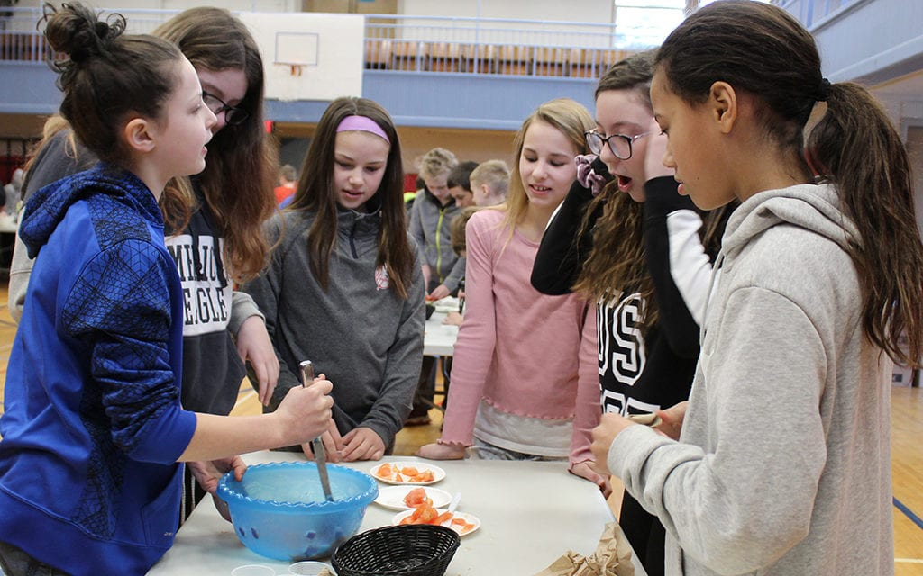 Students create snacks