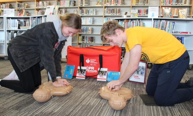 CPR Training Kit Donated to High School