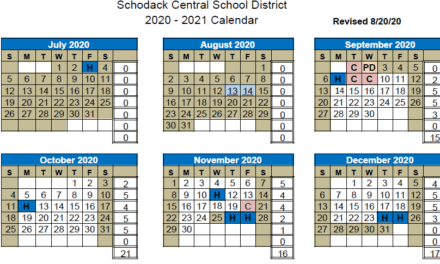 Revised 2020-2021 School Calendar Approved