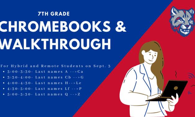 7th Grade Chromebook Pick-up
