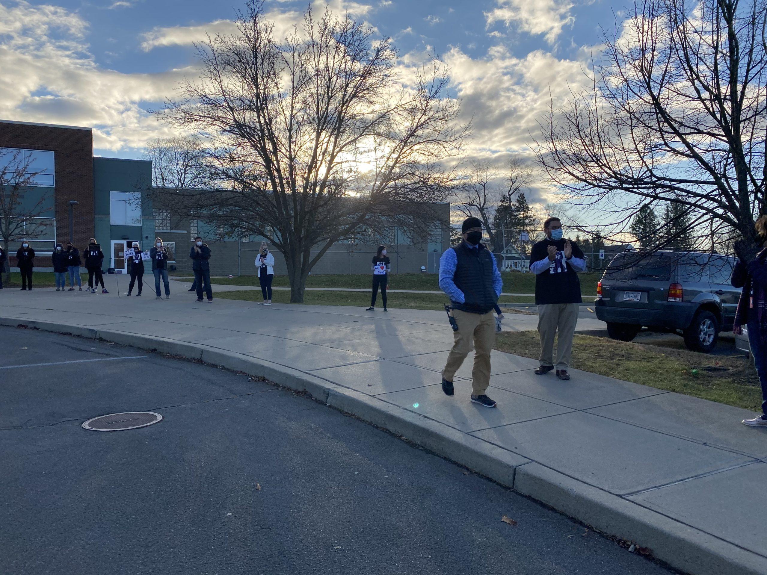 principal walking
