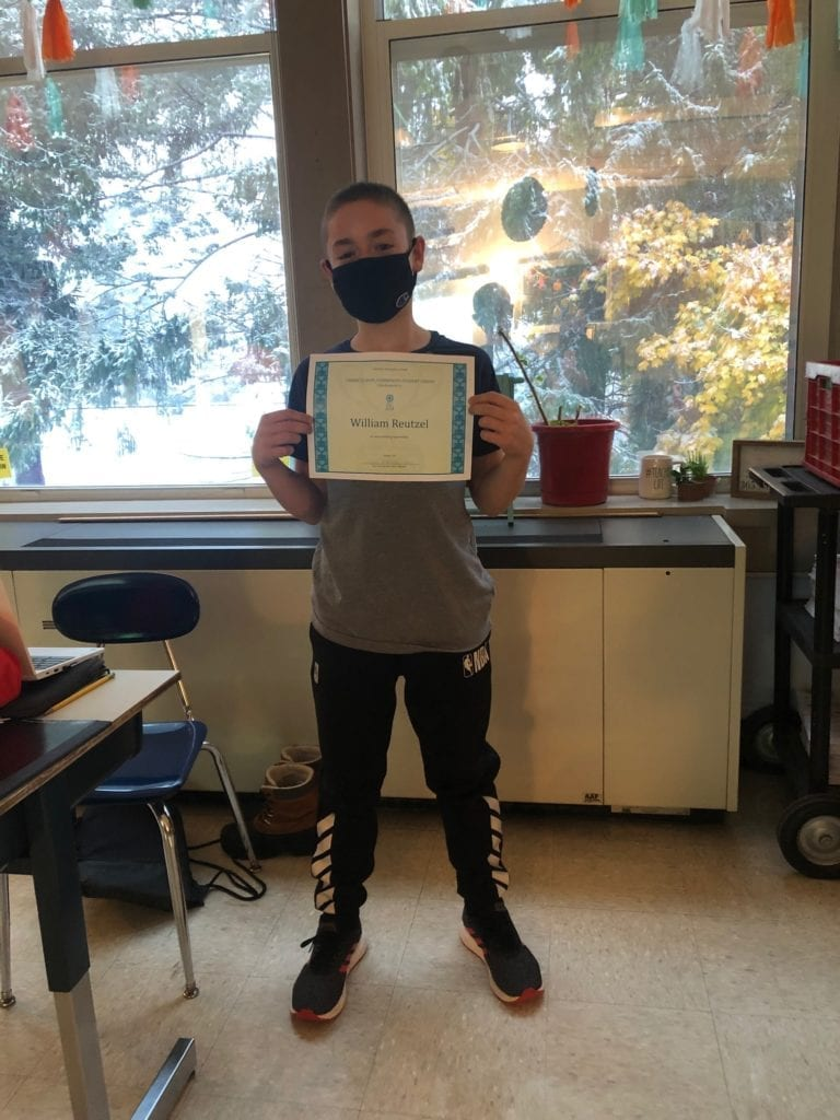 student with award