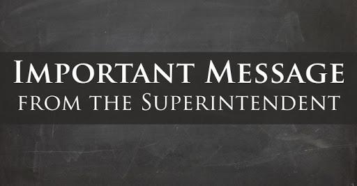 Superintendent Statement Regarding Student Passing