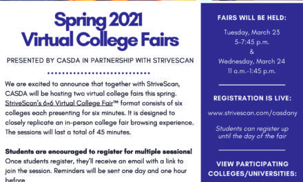Spring Virtual College Fair on March 23