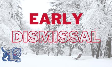 Early Dismissal: Monday, Feb. 1