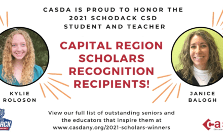 Kylie Roloson, Mrs. Balogh Honored by CASDA