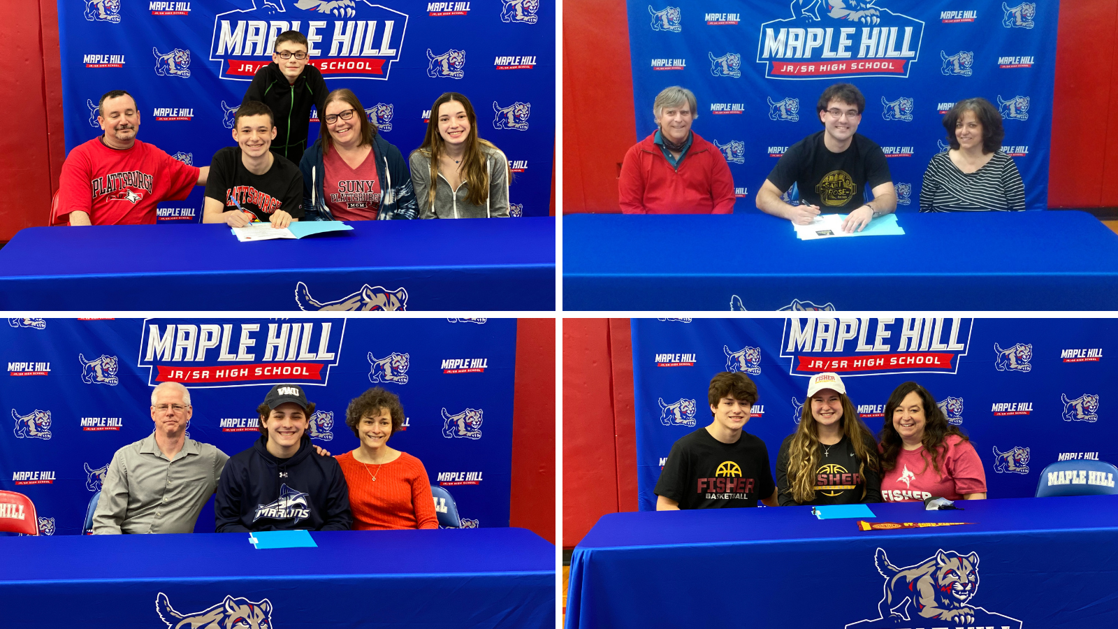 students signing letters of intent