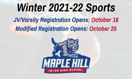 Winter 21-22 Sports: Online Registration & Start Dates