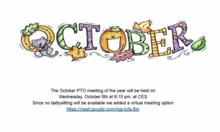 PTO Newsletter: October 2021